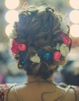 curl bridal hairstyle