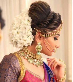 high-puffed bridal hairstyle