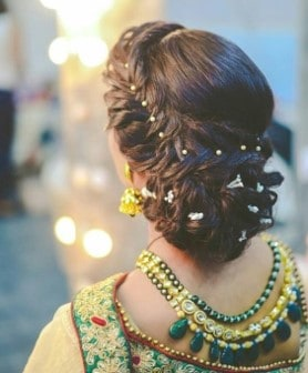 side parted bridal hairstyle